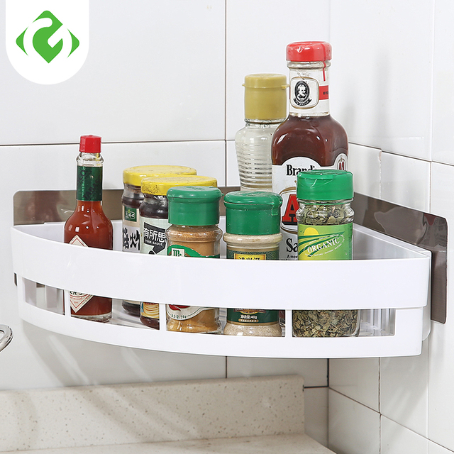 kitchen storage racks wholesale single layer abs wall mounted type organization condiment holder save space
