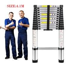Big sale 4.1M telescopic foldable Ladder folding aluminum ladder,multi-function domestic ladders and industrial laddera Safe Doorways