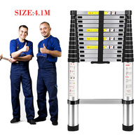 4.1M telescopic foldable Ladder folding aluminum ladder,multi function domestic ladders and industrial laddera Safe Doorways