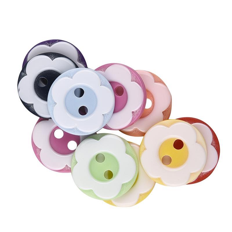 150 piezas/Cass 2 agujeros oso conejo patrón resina Flatback Botón ...