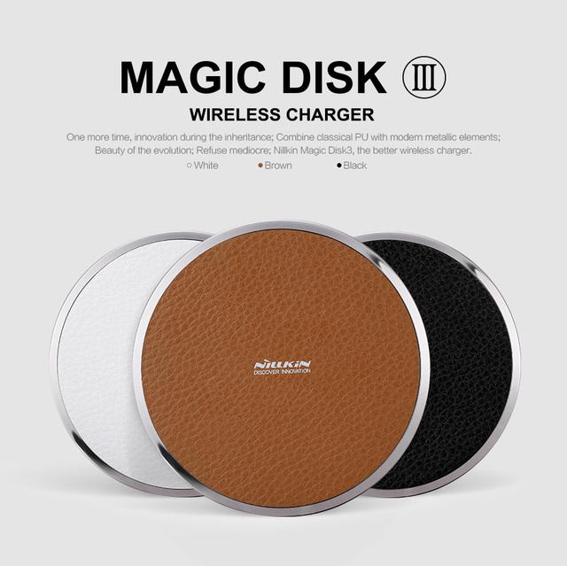 Nillkin magia disco iii inalámbrico cargador rápido para samsung s6 borde s6 s6 edge plus nota 7/5 de carga inalámbrica digital dispositivo