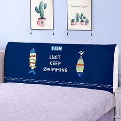 Moda à prova de poeira colchas casa cama encosto elástico pano cama completa cabeceira da cama capa cabeça protetora capa poeira