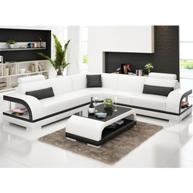 US $1199.0 |Living room furniture Modern New Latest design Apartment L  shaped corner leather sofa-in Living Room Sofas from Furniture on ...