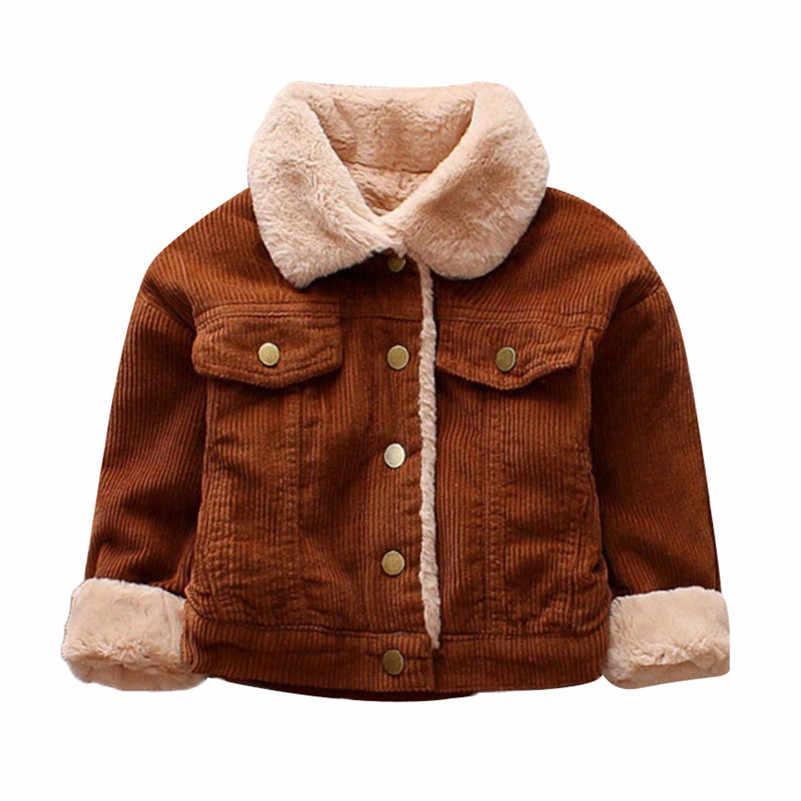 4e7f43d0079 2018 Новый стиль Одежда для детей  малышей  девочек мальчиков зимние  однотонные пальто куртка-