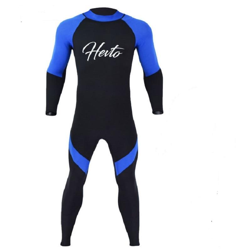 Neoprene 3MM Scuba dive Wet suit Lovers Wetsuit Equipment Snorkeling Jumpsuit One piece long sleeved Triathlon Spearfishing Surf