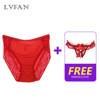 women Silk panties+sexy panties lingerie imported lace edge sexy comfort breathable package buttock free waist LVFAN K004+N200