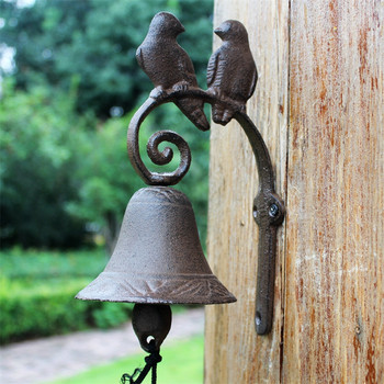 Dinner Bell Love Birds Distressed Brown