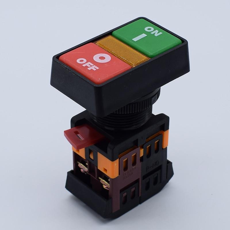 цена на 1pcs PPBB-30N double key with light button switch horse button double with light from the switch