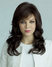 Celebrity american brown afro wavy synthetic wigs sale long black hot