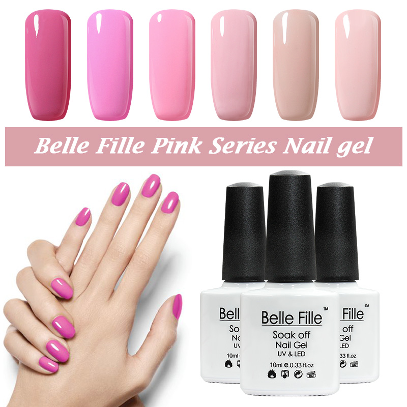 Belle fille UV gel polaco color princesa Rosa gel largo duradera ...