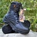 Натуральная Кожа Мужской коммандос пустыни сапоги для зимних Мартин сапоги Мужские высокого верха военные оснастки сапоги обувь A205