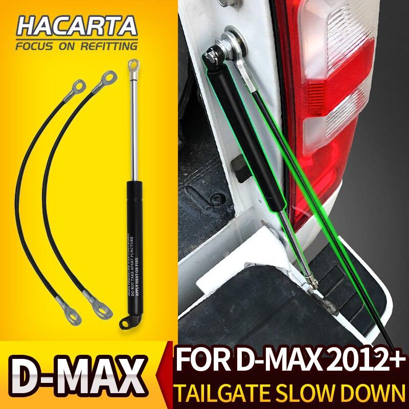 Nouveau amortisseur de jambe de force de hayon de porte arrière pour Isuzu DMAX 2012 + 2015 + gaz d'acier inoxydable ralenti facile pour d-max