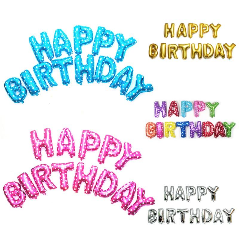 Happy Birthday Helium Balloons