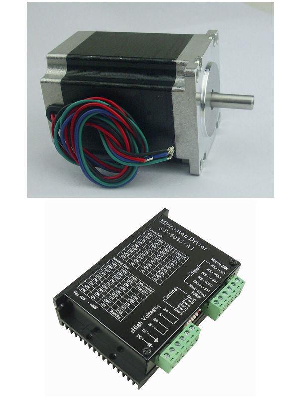 CNC 1 axis kit, 1pcs nema 23 76mm length 270oz-in=1.8N.M stepper motor + 1pcs TB6600 single axis stepper motor driver