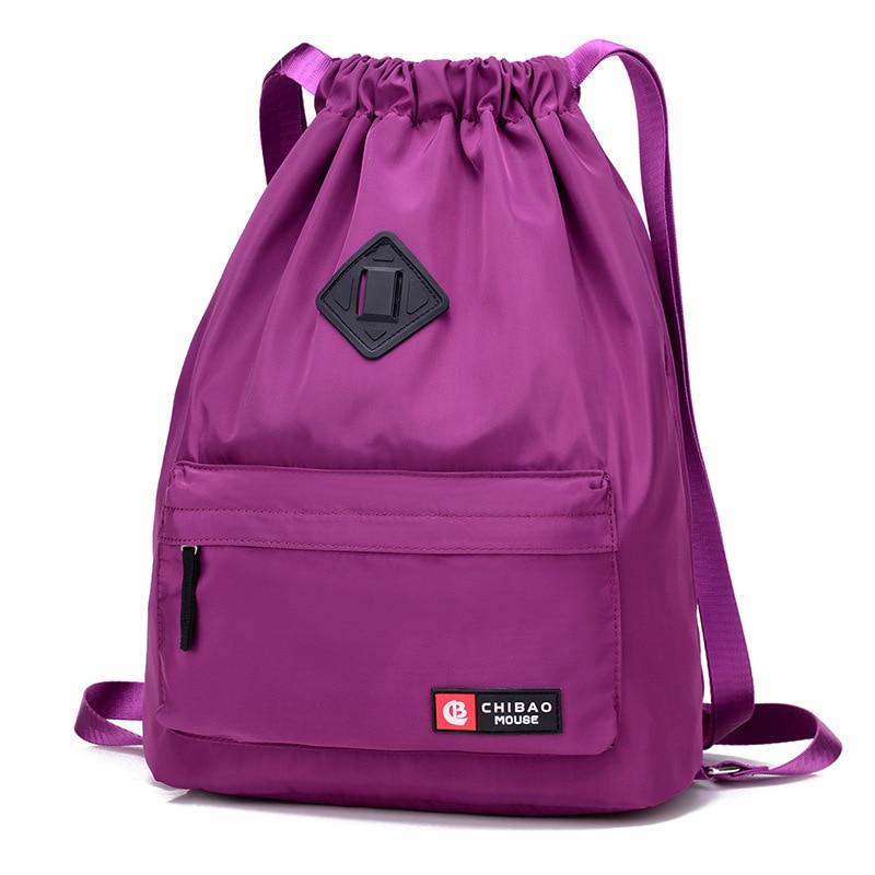 Foldable Rope Backpacks Travel Shoulder Bag Men And Women Waterproof Nylon Bagpack Drawstring Bag Sport Outdoor Modis Waterproof