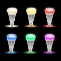 10 шт./лот светодиодная смарт-лампочка Беспроводной WI-FI свет E27 B22 7 W RGB + белый затемнения WI-FI Smart Светодиодный лампочки AC85-265V