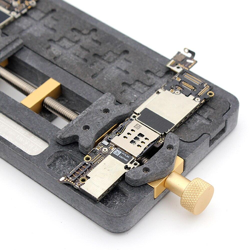 Купить с кэшбэком Phone Universal Fixture High Temperature PCB IC Chip Motherboard Jig Board Holder Maintenance Repair Mold Tool For Soldering
