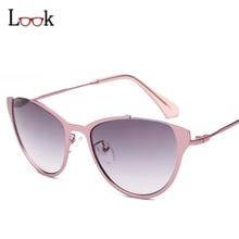 New de la manera 2017 gafas de sol de mujer de marca diseñador semi-sin montura de metal sexy cat eye sunglasses sonnenbrille gafas de sol mujer