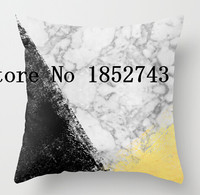 Hot sale Marble with Black & Gold - gold foil (two sides) Pillow Cases for 12 ''14''16''18'' 20''24'' inch free shipping