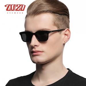 Image 2 - 古典的な偏光サングラス男性女性ブランドデザイナースクエア酢酸駆動ユニセックス眼鏡 gafas oculos AT8006