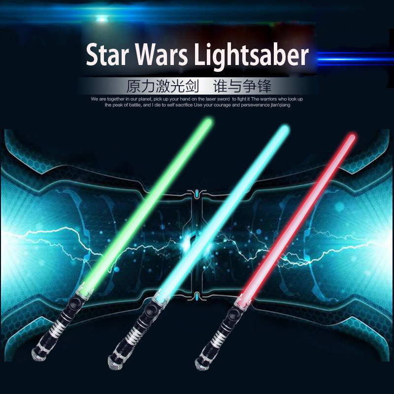 High-quality 73CM LED Cosplay Star Wars Lightsaber With Light Saber laser Sword Toys Birthday Star Kid Gifts Game