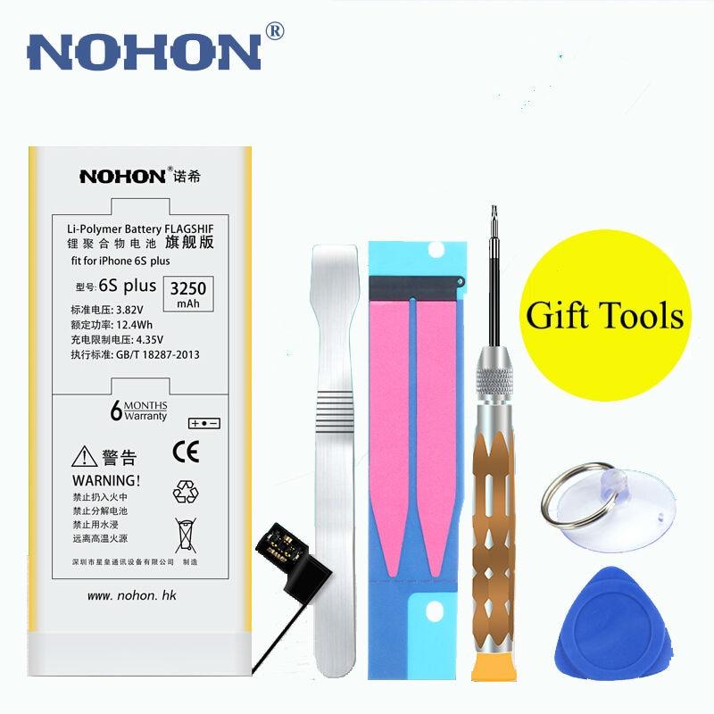 imágenes para NOHON Batería Original 3250 mAh Para Apple iPhone 6 s Plus 6 sPlus Teléfono Incorporado de Alta Capacidad Real de Li-polímero Con Herramientas + Paquete