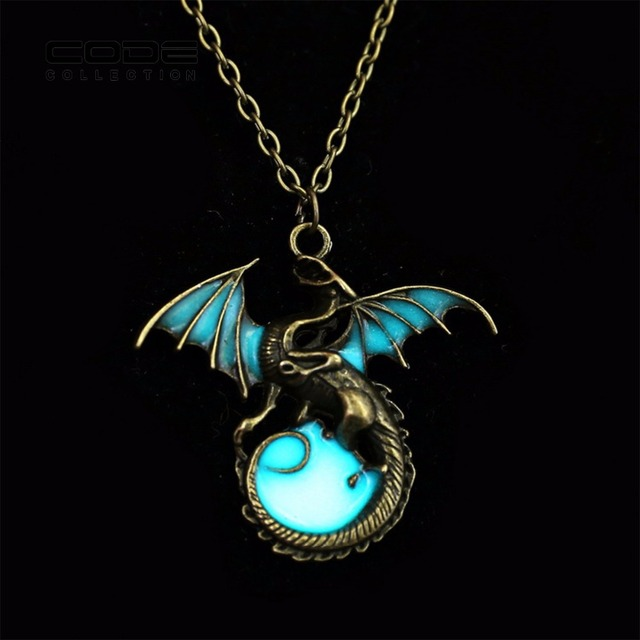 Game of throne fire dragon pendant necklace metal wings luminous game of throne fire dragon pendant necklace metal wings luminous ball long necklace woman men children aloadofball Choice Image