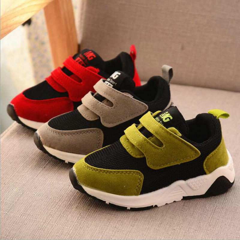 Kids Boys Shoes Girls Sneakers New Spring Net Breathable Sport Running Baby Boys Shoes Soft Outdoor Travel Shoes EU Size 21-30