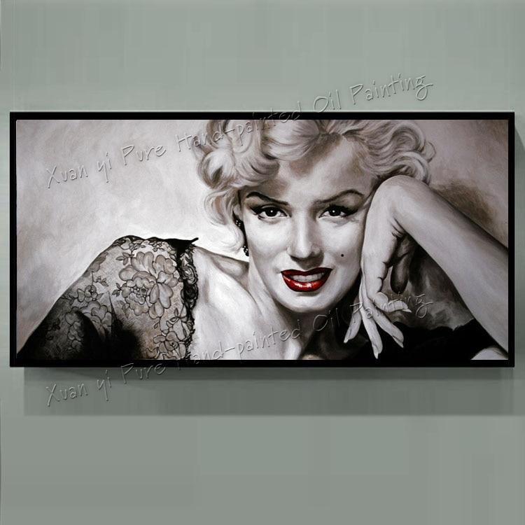 Handpainted Modern Wall Art Abstract Marilyn Monroe Decor Wall Art