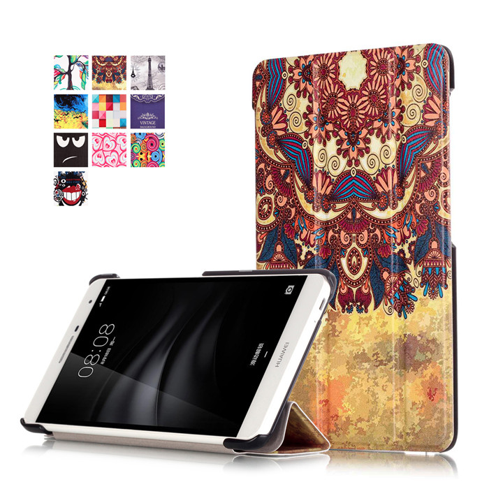 10Pcs PU Leather Stand Cover Case for Huawei Mediapad T2 7.0 Pro PLE-703L PLE 703L Tablet + Screen Protector + DHL Shipping ultra thin smart flip pu leather cover for lenovo tab 2 a10 30 70f x30f x30m 10 1 tablet case screen protector stylus pen