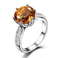 Новинка 2017 года QI xuan_yellow Камень Элегантный Rings_Finger Rings_S925 Твердые Щепка желтый камень rings_manufacturer непосредственно продаж