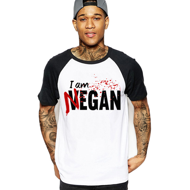 I'm Negan T Shirt Male New Arrival Simple Camiseta Loose The Walking Dead T-Shirts Negan Man Short Sleeve O Neck Teenboy Clothes