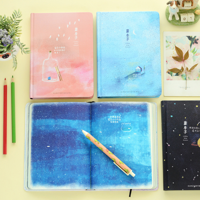 Paperboat Creative A5 page notebook stationery fresh mini diary vintage sketchbooks planner school office travel supplies color page diary notebook a5 simple top quality thicken notebooks school supplies stationery fine travel plan notepad gift page 1
