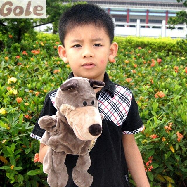 Lobo Marioneta Infantiles Juguetes Educativos Lobo De Peluche Marioneta de Mano Con Piernas Juegan Juegos Gratuitos Para Niños Boneca De Cabelo