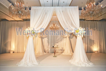 Pure White 3M*3M*3M Wedding-Ceremony chuppah square canopy drape with pipe Stand,wedding stage curtain,wedding decoration