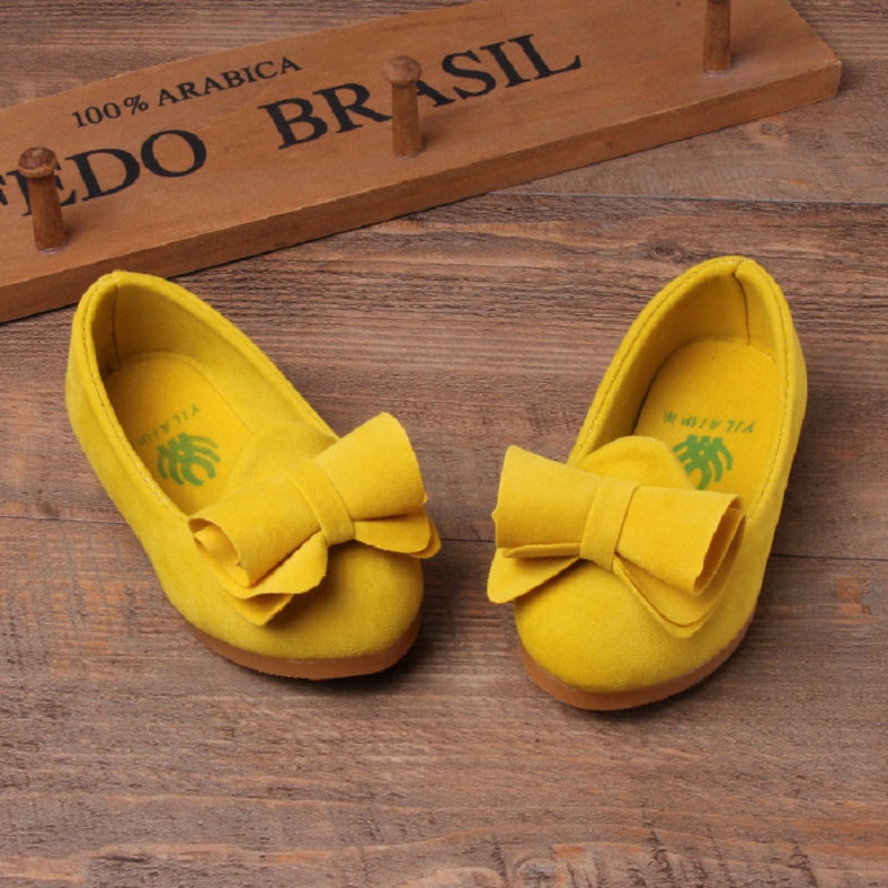 b404ecbb5 2016 cor Candy casuais calçados infantis meninas princesa sapatos moda  primavera verão meninas apartamentos crianças sapatos com Bowtie S3A28