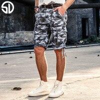 2017 Men Casual Cargo Short Mens Summer Style Overalls Camouflage Loose Multi Pocket Cotton Shorts Men