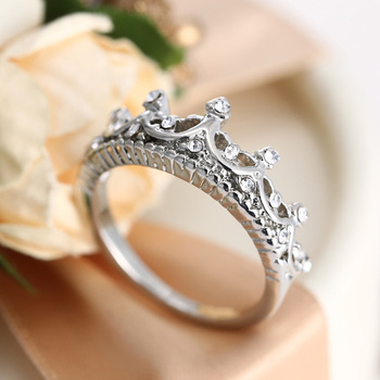 Crown Open Ring Rose Gold Princess Crown Rings For Party And Wedding 2