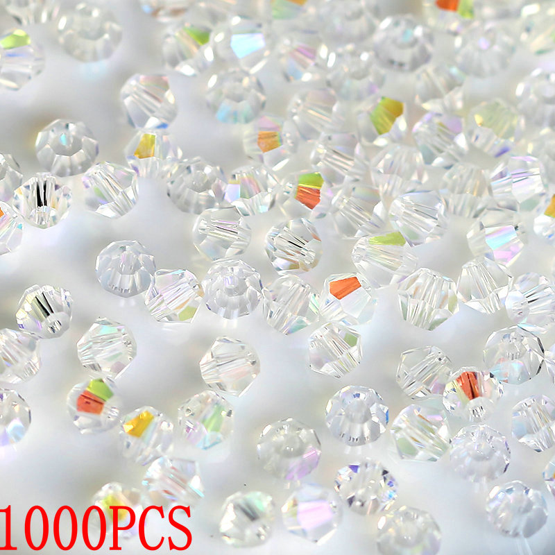 Beads Glass Bracelet Jewelry-Making-Accessories Loose-Spacer-Beads Bicone Crystal Wholesale