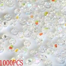 1000 шт большая сумка красочные 4 мм кристалл Бикона бисер стеклянные бусины Свободные бусины браслет аксессуары