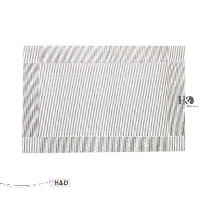 vinyl placemats easy clean heat resistant tableware kitchen decoration inch set of 4
