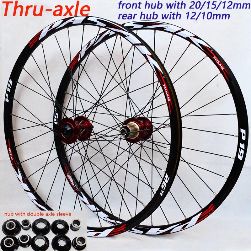 PASAK 26 27.5 29 polegada rodas de Bicicleta Rodas de Bicicleta de Montanha grande hub 6 garras DH AM roda 15mm 20mm mm 9 12mm Thru-eixo rodado Rim