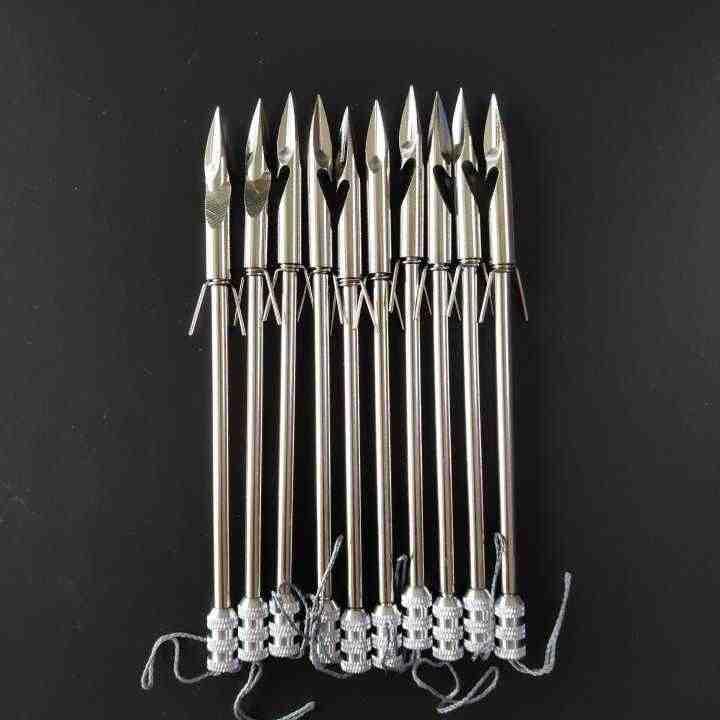 10/20 pièces fronde fléchettes flèches frondes accessoires poisson chasse frondes balle tête triangulaire fléchettes