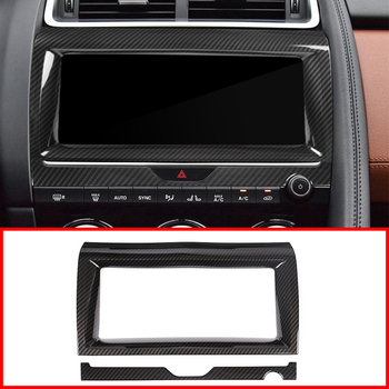 2 Style ABS Car Interior Navigation Frame Trim For Jaguar E-PACE E PACE 2018-2019 Car Accessories and Parts