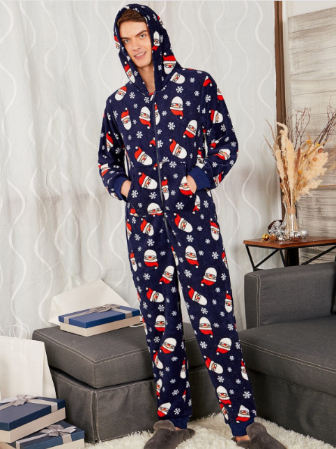Parents and Children Pajamas Paternity Suit Print Cap Mommy and Me Clothes Family Matching Clothes Family Christmas Pajamas in Matching Family Outfits from Mother Kids