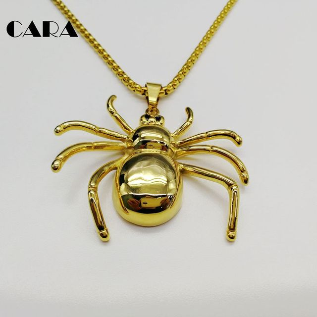 CARA New 316L Stainless steel high polished BIG spider pendant & necklace mens fashion necklace jewelries gift CARA0248