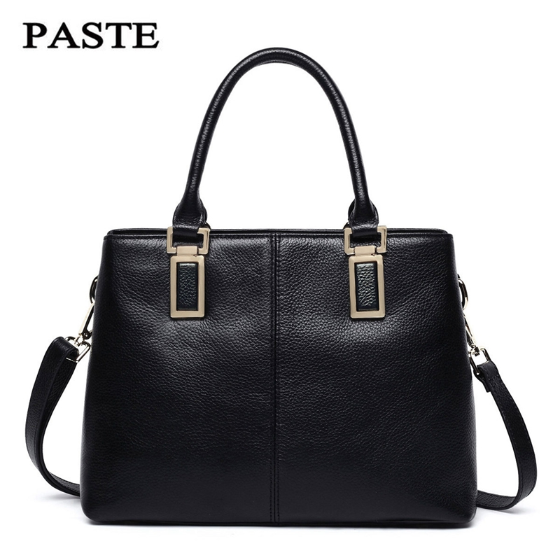 PASTE 2018 Fashion Brand Designer Genuine Leather Big Capacity Ladies Bags New Embossed Tote Bags Cross Body Handbags Women Bags new guote fashion designer geneva ladies sports brand white