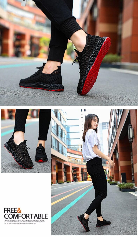 2019 Hollowing out Mesh Women Fashion Sneakers Men Sport Casual Shoes Flat Flying Knitting Women Trainers Men's Shoes XU025 (1 (19)