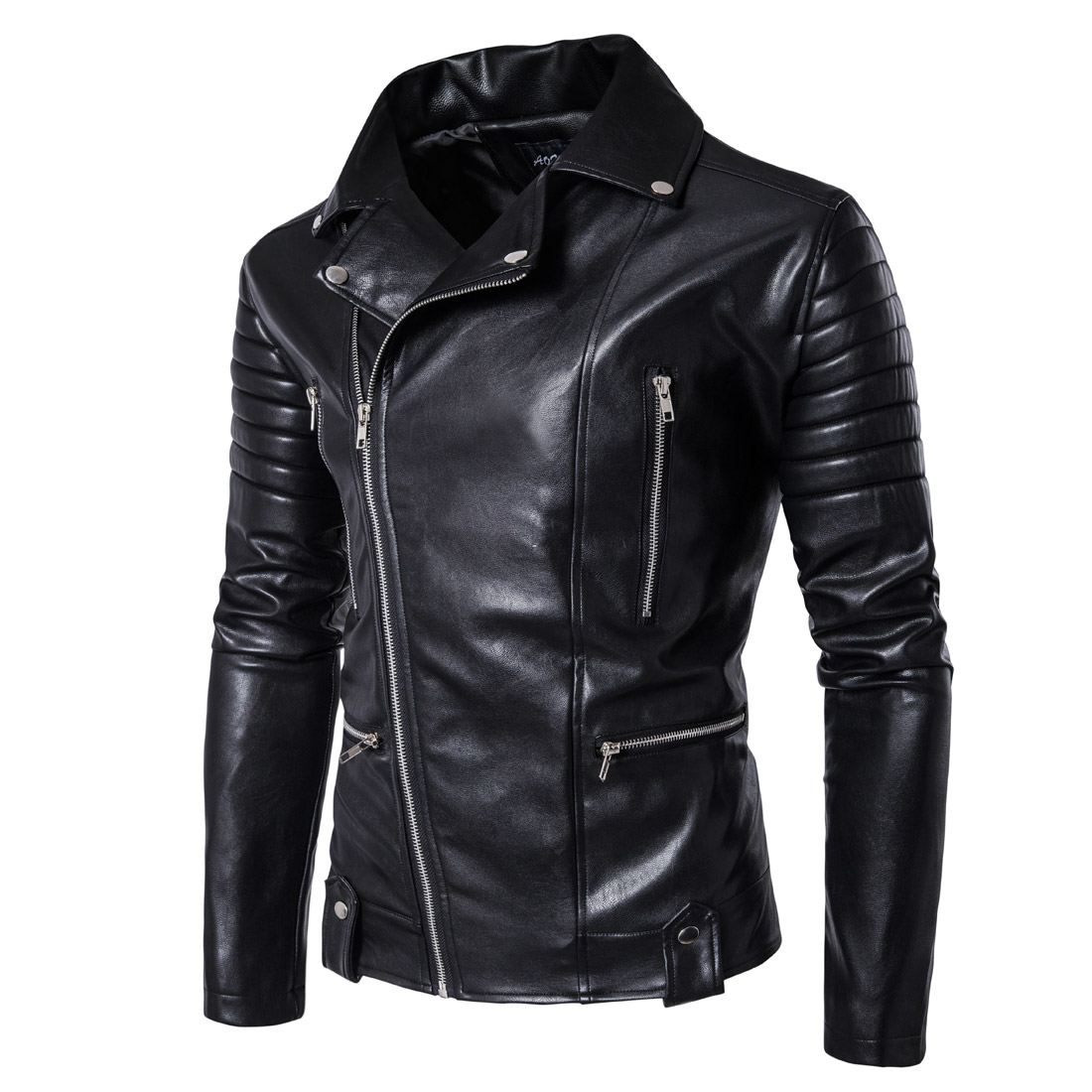 Multi-zipper Leather Jacket Men Clothes 2018 Fashion PU Leather Coat Male Motorcycle Mens Jackets Clothing Jaqueta Couro