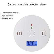 LCD Carbon Monoxide Detector Poisoning Gas Warning Sensor Monitor Alarm Device LCC77